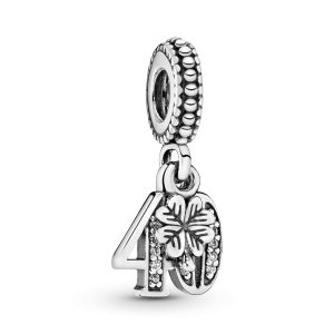 Charm pendente 40° compleanno