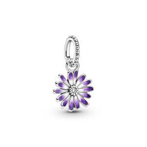 Charm pendente Margherita viola