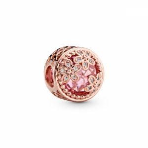 Charm Margherita rosa scintillante